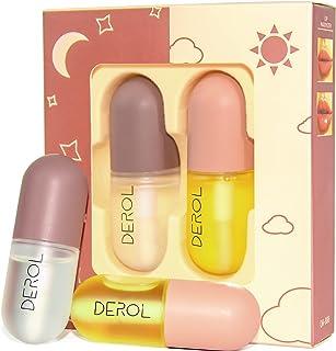 Lip Plummper Set,Derol Lip Plumper Gloss,Lip Filler,Lip Plumping Lip Gloss,Lip Enhancer for Fuller and Lip Care Serum,Lip ...