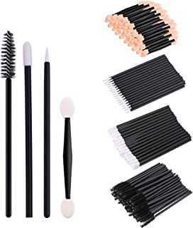 Bearals Disposable Makeup Applicators, Disposable Makeup Wands, Mascara Wands, Eyeliner Brushes, Lipstick Applicators, Eyeshadow Brushes, 200 Pcs Makeup Tool Kits