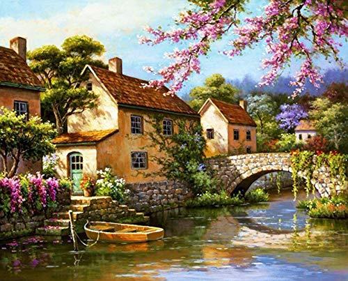 fancjj Puzzle 1000 Piezas-Little Bridge HouseHogar Entretenimiento Juguetes Decoración del hogar50x75cm(20x30 Pulgadas)