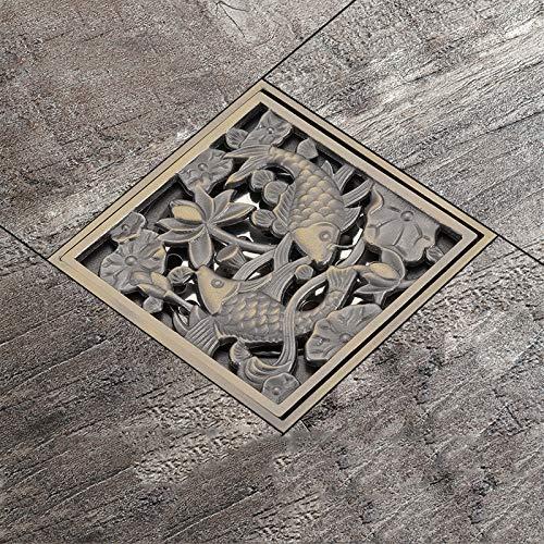 DYR Bodenabläufe Badezimmerabläufe Stopper Messing Duschwanne Abfallabdeckung Bodenablauf Wasserabläufe Badezimmerduschablaufsieb