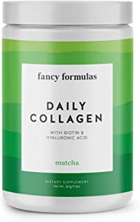Fancy Formulas Daily Collagen Protein Powder: Grass-fed Collagen Peptides with Biotin, Hyaluronic Acid, MCT Oil Powder for Healthy Skin, Hair, Nails, Paleo and Keto Friendly, Colageno Hidrolizado