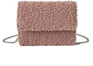 DGdolph Schultertasche aus Samt von Agnello Umhängetasche Casual für Damen Schultertasche Casual Pink