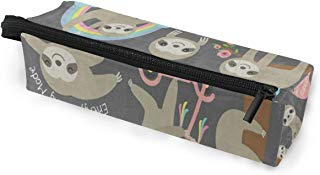 Glasses Case Ute Sloth Floral Rainbow Tree Multi-Function Zippered Pencil Box Makeup Cosmetic Bag for Women/Men