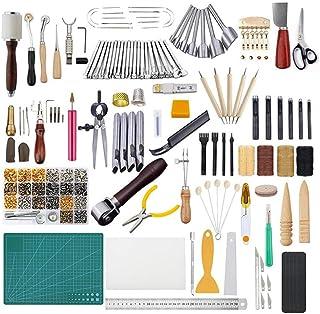 Kit de Gravure sur Cuir Trousse à Rivets Trousse à Outils en Cuir Trousse à Outils en Cuir Création De Bricolage Gaufrage