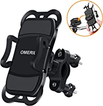 "OMERIL Bike Phone Holder, Bike Phone Mount 360° Rotatable Bicycle Handlebar Phone Holder for iPhone X/8/8 Plus,Samsung Galaxy S8 Plus/S8/S7 and Other 3.5""-6.5"" Devices"