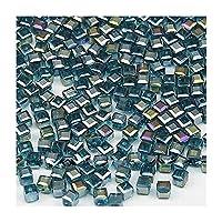SHUOYUE 200pcsのスクエアクリスタルビーズ透明ビーズスクエアボール2ミリメートルサプライブレスレットジュエリー (Color : Malachite green, Size : 6mm 100pcs)