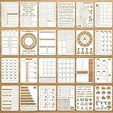 24 Pieces Journal Stencils Plastic Journal...