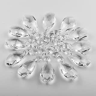 Supla Pack of 24 Teardrop Chandelier prisms candle chandelier Crystal Pendants Glass Pendants Beads