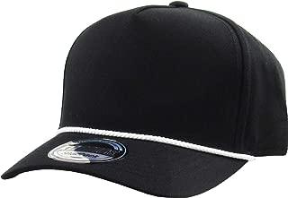 Classic 5 Panel Constructed Front Baseball Cap Adjustable Snapback Hat