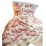 Loberon Bettwäsche Toile Rouge, Baumwolle, H/B ca. 200/135 cm, weiß/rot