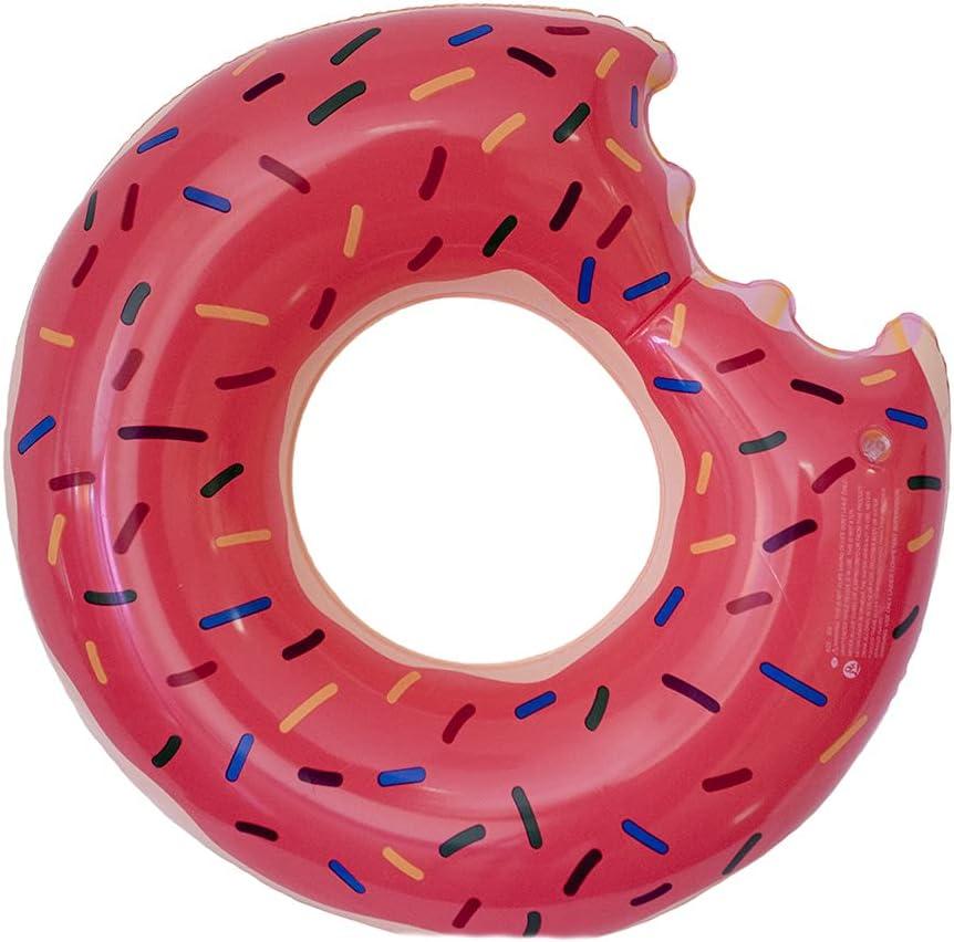 fondosub Flotador Rueda Donuts Mordido 60 cm (49434), Rosa, Marrón