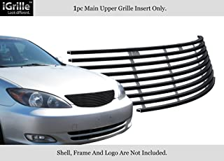 APS Compatible with 2002-2005 Toyota Camry Stainless Steel Black Billet Grille N19-J08358T