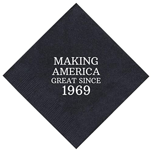 50th Birthday Gifts Making America Great Since 1968 Party Supplies 50 Pack 5x5