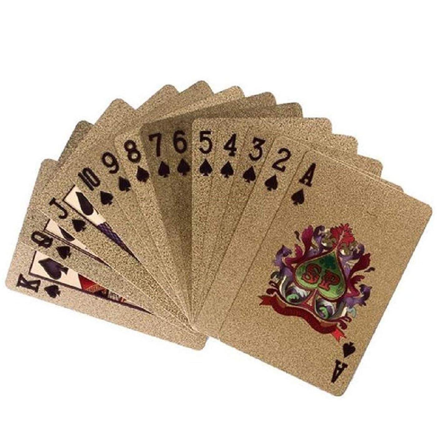 急速な外観敬意を表するMen club 1PCS防水金箔ポーカー高級金メッキトランプマジックトリックツールは、クリエイティブで便利なパーティーカードデッキゲームに最適です