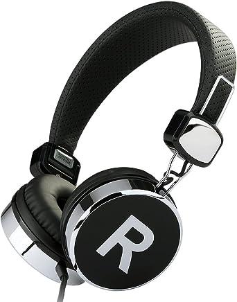 Sound Intone ステレオヘッドホン ヘッドセット マイク付き ボリュームコントロール 高音質 両耳オーバー 「ブラック」 870