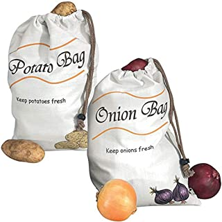 Potato & Onion Sprout-Free Vegetable Storage Bags - White