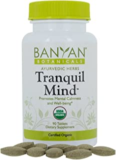 Sponsored Ad - Banyan Botanicals Tranquil Mind - USDA Organic - 90 Tablets - Soothes Nervousness & Stress - Supports a Cal...