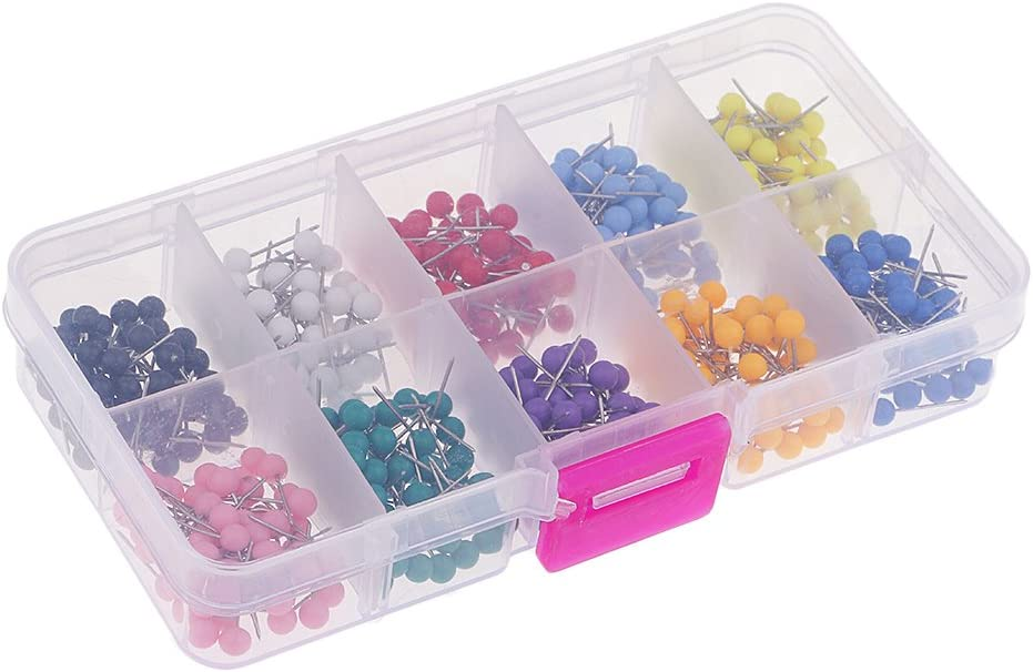 Homyl 500 Pieces Round Head Max 69% OFF for Push Drawing Pins Thumbtack New Shipping Free Shipping