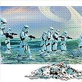 Visionpz Puzzle para Adultos Rompecabezas de 1000 Piezas Rogue One: Star Wars Conjunto de Rompecabezas Familiar Movie Poster Rompecabezas Juegos educativos 52x38cm