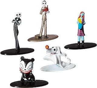 Jada Nano Metalfigs 30042 Disney Tim Burton's The Nightmare Before Christmas Metals Die-Cast Collectible Toy Figures 5 Pack, 1.65
