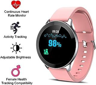 Pulsera Actividad Reloj Inteligente con Medidor De Ritmo Cardíaco, Medición De Temperatura, Pulsómetro, Monitor De Sueño Compatible A Android Y iOS para Hombre Mujer Niño