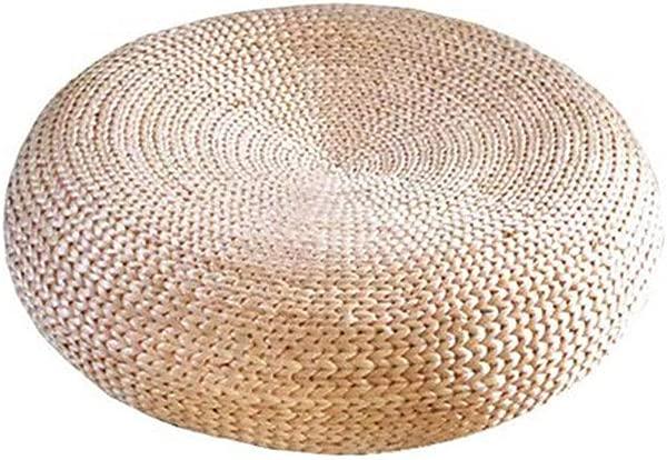 GJ Futon Straw Cushion Thickening Meditation Meditation Worship Mat Rattan Straw Matching Accessories Shooting Props Cushion Lazy Cushion Size 606018cm