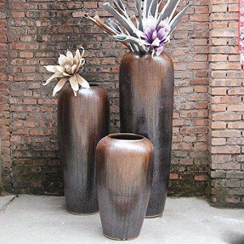 VIO Keramische Tontöpfe Hauptdekor Vase Blumen Keramik Ornamente,Höhe 80 cm,45 cm im Durchm