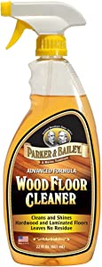Parker & Bailey Wood Floor Cleaner 22oz, Brown, 100018
