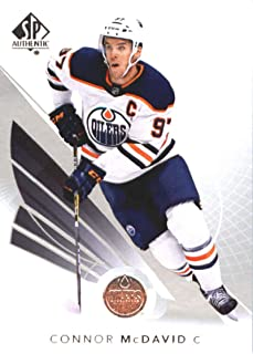2017-18 SP Authentic #1 Connor McDavid Edmonton Oilers NHL Upper Deck Hockey Card