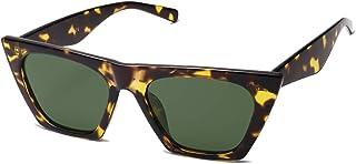 Retro Square Cateye Polarized Women Sunglasses Trendy...