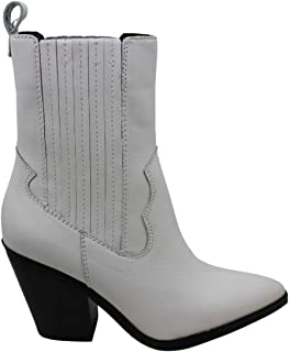 Aldo Womens Drerissa Leather Pointed Toe Mid-Calf Cowboy Boots, White, Size 10.0