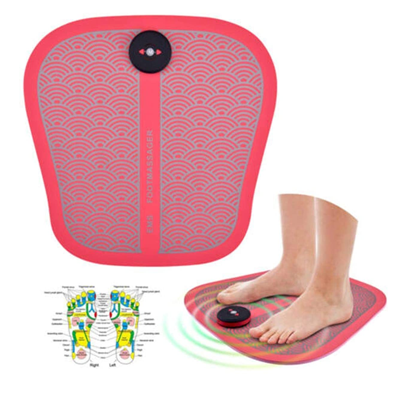 ヘアアイザック自分の力ですべてをするCckrmフットマッサージディープティッシュニーディング、リモートコントロールフィートマッサージャー、切り替え可能な熱、指圧フットマッサージマシンは、ホームオフィスの足の痛みを和らげます