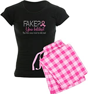 CafePress Yes They're Fake Breast Cancer Women's Women's PJs