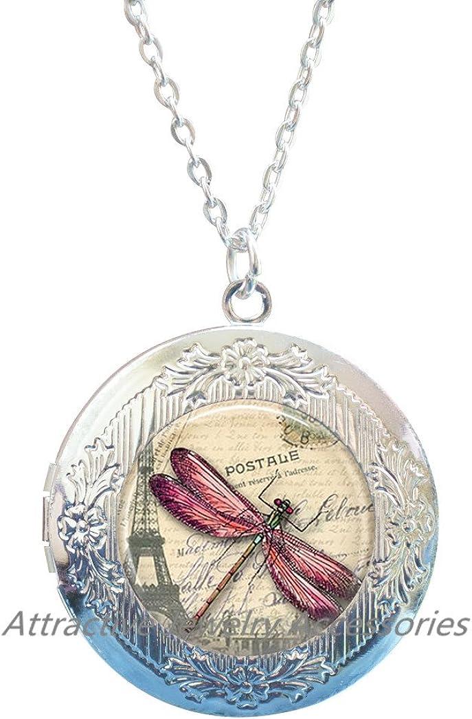Dragon Fly Jewelry Drogan Fly Locket Necklace, dragonfly jewelry Locket Necklace, dragonfly Locket Pendant Locket Necklace,fly picture Locket Pendant Locket Necklace,QK011