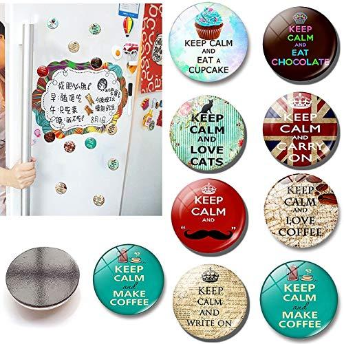 BLOUR 1 Unidad de Pegatinas magnéticas Populares para Mantener la Calma para Nevera, Gran Oferta, decoración del hogar, Tablero de Mensajes de Cristal, Bonito imán para Nevera