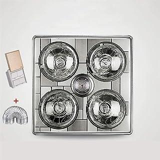 Baño Ventilador de ventilación con el calor y la iluminación del LED, techo impermeable ligero de calefacción, lámpara de calor Embedded baño de techo,Blanco