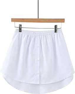 AYEMOY Mini Skirt Shirt Extenders Adjustable Multipurpose T-Shirt Extender Layering Fake Top Lower Sweep Set Skirt Half-Le...