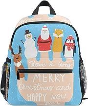 Top Carpenter Primary School Backpack Bookbag Finger Puppets Fox Deer Snowman Santa Claus for Toddler Boys Girls Kids