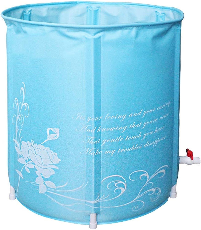 Aufblasbare Badewanne QIQIDEDIAN Nylon Umweltfreundliche Faltbad Badewanne Erwachsene Bad Groe Kinderentwsserung Schnell (Farbe   Blau)