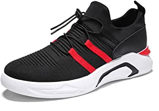 TERIAU Men Knit Sneakers Lightweight Cross Training Running Shoes Breathable Athletic Shoes