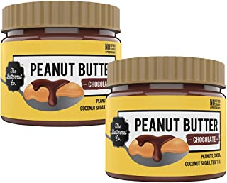 The Butternut Co. Peanut Butter Chocolate, 340 gm (No Refined Sugar, High Protein, 100% Natural) - Pack of 2
