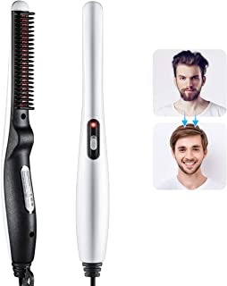 Beard and Hair Straightening Brush, A-Yunfeng Hair Comb for Men with Side Hair Detangling, Curly Hair Straightening for Be...