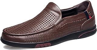 [WEWIN] ビジネスシューズ メンズ ローファー スリッポン 軽量 本革 ドライビングシューズ メッシュ オフィスサンダル 紳士靴 カジュアル 防滑 通気