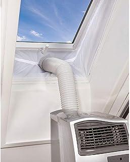 AirLock Fensterabdichtung Queta 4M Fensterabdichtung Für mobile Klimageräte, Abluft-Wäschetrockner Klimaanlagen, Ablufttrockner Luftentfeuchter  Bautrockner