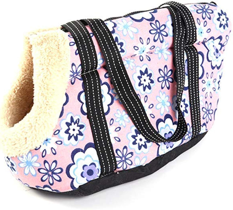 Pet Travel Carrier Pet Bag Arctic Velvet Canvas, High Elastic Sponge Pet Bag, Pet Out Bag, Portable Pet Bag, A Variety of colors and Specifications Ourtdoor Pet Bag (color   B, Size   L)