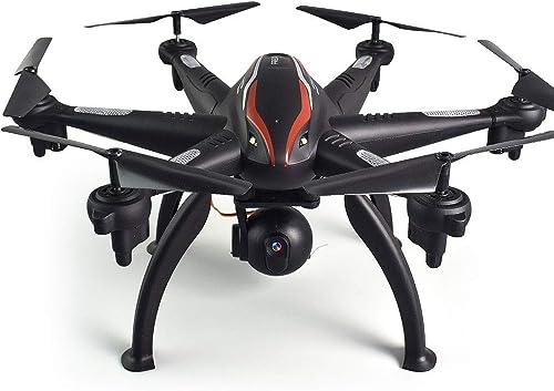 Bolange Quadricoptère de Transmission d'image Double GPS 2.4G WiFi Photographie aérienne Professionnelle de Perforhommece de Plein air de Drone Grand Angle 4CH 6 Axes 1080P