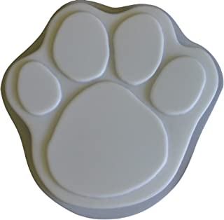 Huge 16 Inch Dog Cat Paw Print Stepping Stone Concrete Plaster Mold 1148