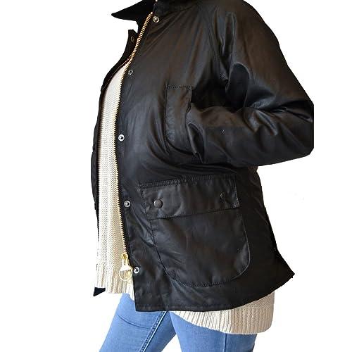 ee2d4ffbe6e43 Barbour Women's Bedale Wax Jacket Black (BBJK004)