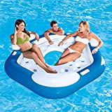 Denny International Inflatable Floating Lounger for upto 3 Person Island Float Raft for Swimming Pool