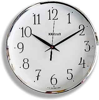 DECORVAIZ Wood Analog Wall Clock (White)